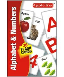 Apple Tree Flash Cards Alphabet and Numbers- English