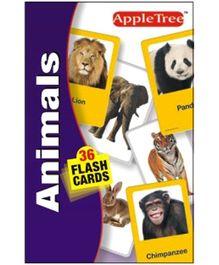 Apple Tree Flash Cards Animals - English