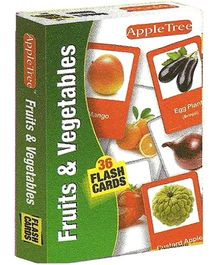 Apple Tree Flash Cards Fruits and Vegetables- English
