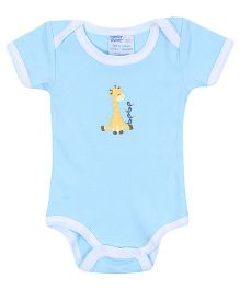 Honey Bunny Half Sleeves Onesies Blue - Animal Print
