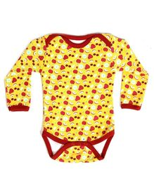 Earth Conscious Full Sleeves Onesies Yellow - Fruits Print