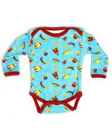 Earth Conscious Full Sleeves Onesies Blue - Rockets Print