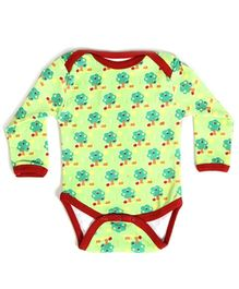 Earth Conscious Full Sleeves Onesies Green - Trees Print