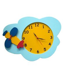 Kidoz Airplane Motif Clock