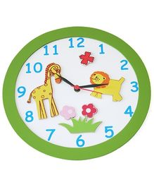 Kidoz Animal Print Clock