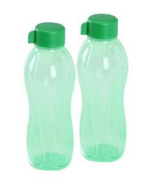 Tupperware Bottle Green 1 Liter - Pack Of 2