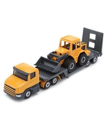 Siku Funskool Low Loader and Front Loader- Yellow