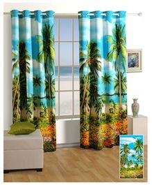 Swayam Digitally Printed Premium Cosmo Fashion Window Curtain - Single Piece