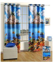 Swayam Digitally Printed Premium Cosmo Fashion Window Curtain - Single Piece