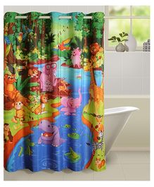 Swayam Digitally Printed Shower Curtain - 1 Piece