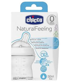 Chicco Natural Feeling Step Up New Feeding Bottle - 150 ml