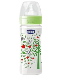 Chicco Well Being Polypropylene Feeding Bottle Green - 250 ml