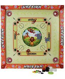 Prasima Toys 2 in 1 Carrom Board With Ludo