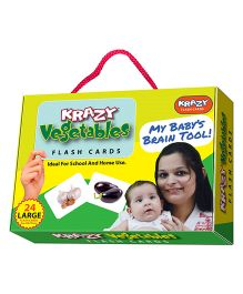 Krazy Vegetables Flash Cards My Baby Brain Tool - 26 Large Flash Cards