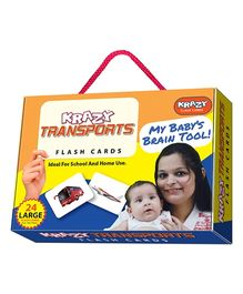 Krazy Transport Flash Cards My Baby Brain Tool - 26 Large Flash Cards