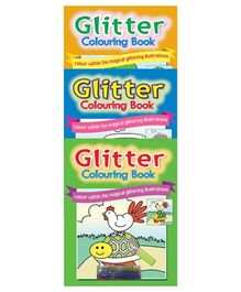Sterling Glitter Colouring Pack with glitter glue- Set of 3 Books