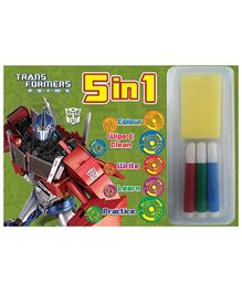 Sterling 5 in 1 Wipe and Clean- Transformers Prime
