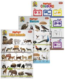 Krazy Combo Charts Set 11 - Wild Animals Birds And Colour