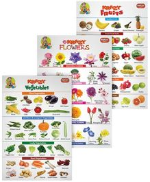 Krazy Combo Charts Set 12 - Fruits Flowers And  Vegetables