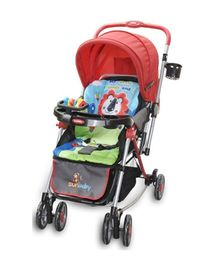 Sunbaby Jungle Theme Rocking Stroller SB 300 X - Red