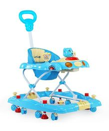 Luv Lap Comfy Musical Baby Walker Cum Rocker Blue - 18121