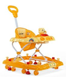 Luv Lap Comfy Music Baby Walker Cum Rocker Yellow - 18123
