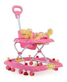 Luv Lap Muscial Baby Walker Cum Rocker Comfy Pink - 18125