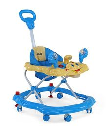 LuvLap Sunshine Baby Walker With Adjustable Height & Stopper - Blue 18126