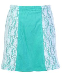 Deamszone Skirt With Net Floral Pattern - Green