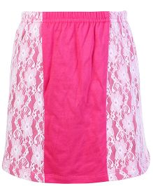 Dreamszone Skirt Lace Pattern - Pink White