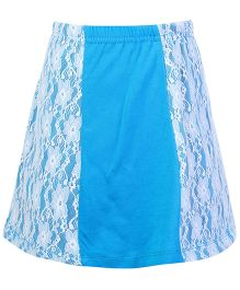 Deamszone Skirt With Net Floral Pattern - Azure Blue