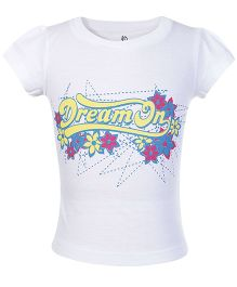 Dreamszone Short Sleeves Top Dream On Print - White