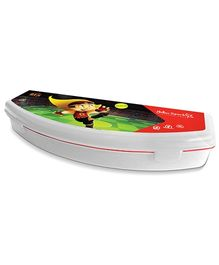 Mighty Raju Plastic Pencil Box - White