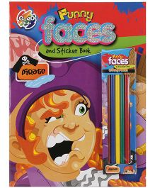 Chitra Funny Faces And Sticker Book - 14 Pages