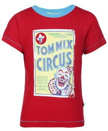 Bonorganik Half Sleeves Printed T Shirt - Red