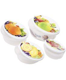 Fab N Funky Fruit Print Lunch Box- Set of 4