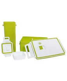 Fab N Funky Lunch Box With Tumbler - Green