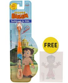 Dentoshine Chhota Bheem Soft Tooth Brush - Orange