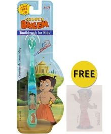 Dentoshine Chhota Bheem Soft Tooth Brush - Green