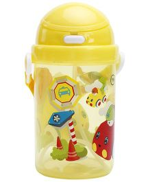 Fab N Funky Toy Print Water Bottle - Yellow