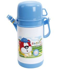 Fab N Funky Blue Water Bottle with Cup - Approx 750 ml