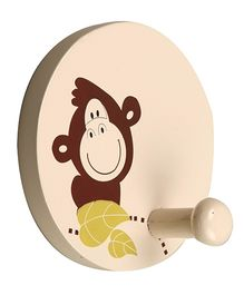 Fly Frog Round Peg Monkey Printed Wall Hook
