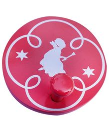Fly Frog Round Peg Princess Printed Wall Hook - Pink