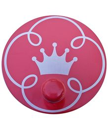 Fly Frog Round Peg Crown Printed Wall Hook - Pink