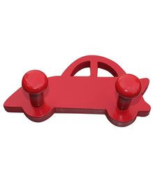 Fly Frog Car Shaped Peg Wall Hook - Red