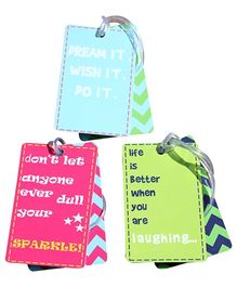 Fly Frog Printed Luggage Tags - Set of 3