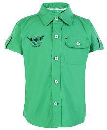 Palm Tree Half Sleeves Shirt - Green