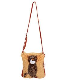 IR Soft Fur Shoulder Bag - Leopard Applique