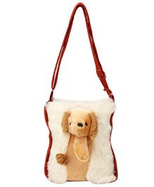 IR Soft Fur Shoulder Bag Dog Applique (Color May Vary)