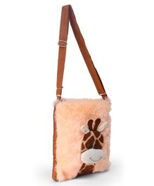 IR Soft Fur Shoulder Bag - Giraffe Applique